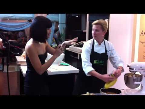 An Evening with Anna Olson: Making Banana Caramel Cheesecake pt.2
