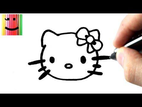 Comment faire hello kitty videolike - Dessiner hello kitty ...