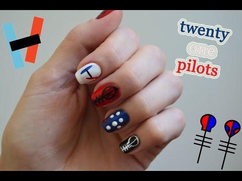 Twenty One Pilots Nail Art Tutorial