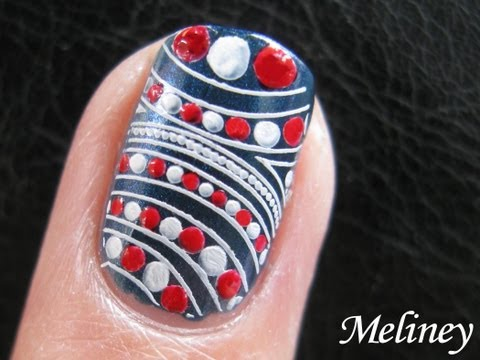 Retro Sailor Nail Art