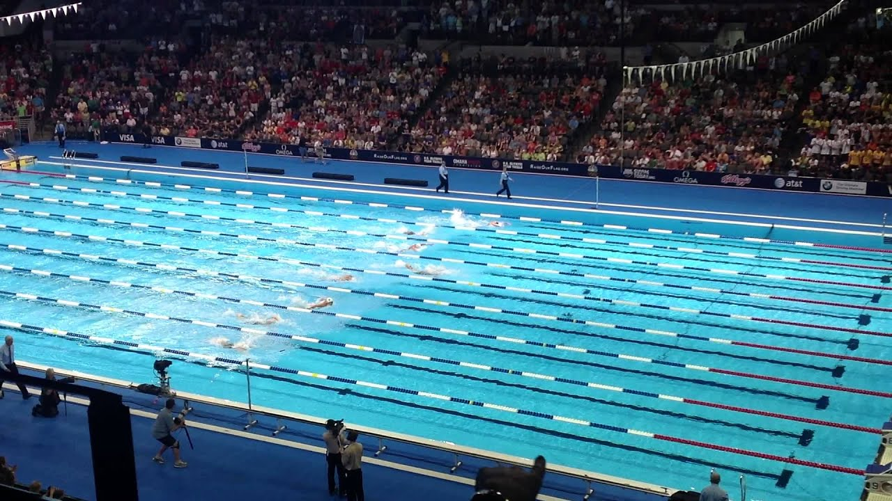2012 olympic swimming trials women 39 s 100m butterfly finals youtube for How many meters is a swimming pool