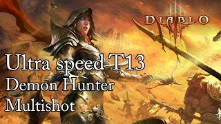 Diablo 3 RoS - Ultra speed farma T13 DH - Multishot Build (Patch 2.6.1)