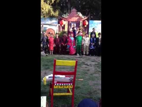 """Grow for Me"" performed by students at Monica Ros school in"
