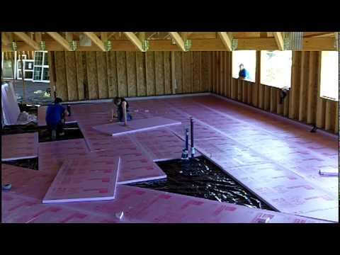 Installing Foam Under Slab Insulation Mov Youtube