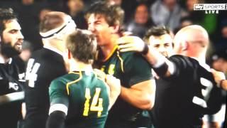 NZ vs SA Brawl after HUGE tackle! 14/09/13