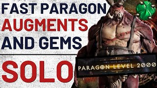 Fast Paragon(2K)/Augments/Gem Leveling SOLO Guide - Diablo III