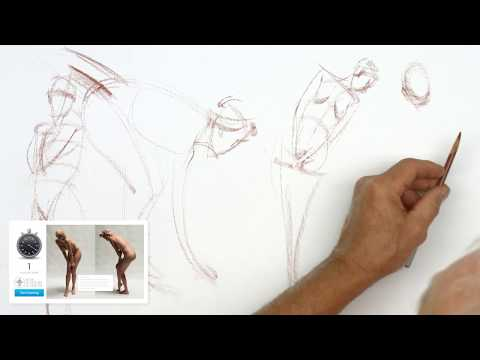Figure Drawing Tutorial Demo with Steve Huston after Daily Life Drawing Session #1