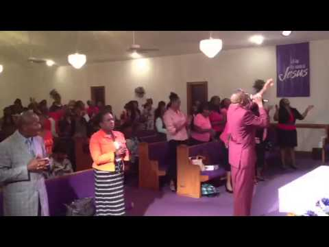 Bishop Antonio Burroughs Worshipping in Greenville, (Bellarthur) North Carolina