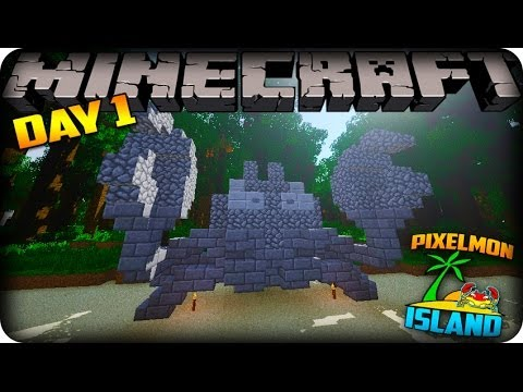 MINECRAFT PIXELMON ISLAND - Day 1 - Mewtwo already?!