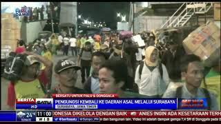 Pengungsi Palu Asal Jawa dan Sumatera Tiba di Surabaya