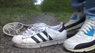 stomping dirty adidas superstars