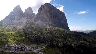 PASSO SELLA LATE SUMMER - DOLOMITES UNESCO - DRONE