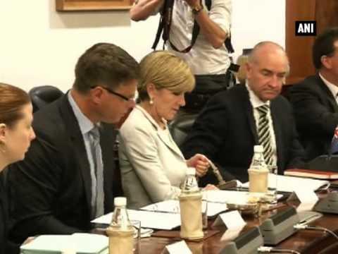 Sushma Swaraj meets Australian Foreign Minister Julie Isabel Bishop