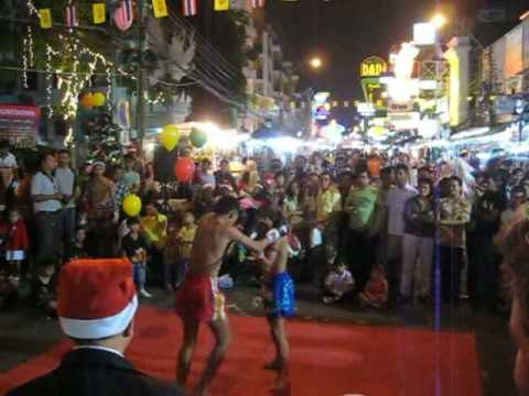 Thai boxe in Kao San road