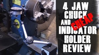 Mounting the 4 jaw chuck and Clockwise Tools Mag Holder Review