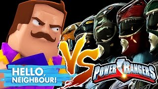 POWER RANGERS VS HELLO NEIGHBOUR - Minecraft