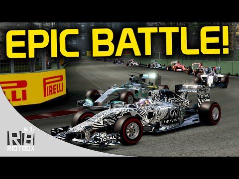 F1 2014 Epic Battle!! Ricciardo VS Vettel - Singapore Day to Night Race Gameplay