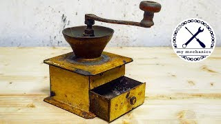 Rusty Old Coffee Grinder - Perfect Restoration