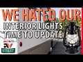 Updating your old RV inside lights to modern LED fixtures
