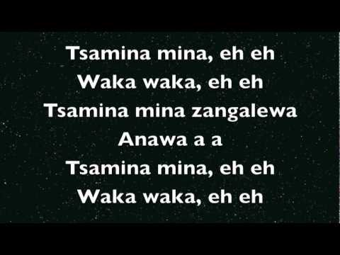 Shakira Waka Waka Lyrics video