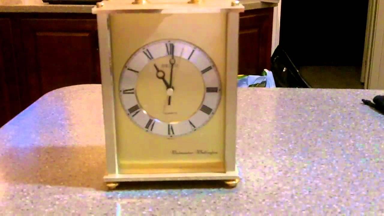 Seiko westminister whittington mantel clock youtube for Seiko westminster whittington wall clock manual