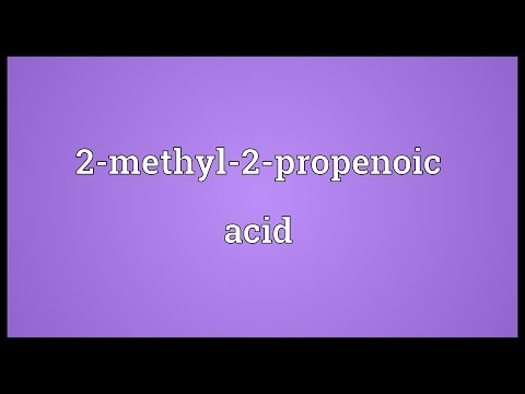 Header of 2-Methyl-2-Propenoic Acid