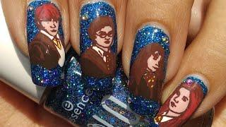 Harry Potter Nail Art Tutorial!!! ⚡⚡⚡