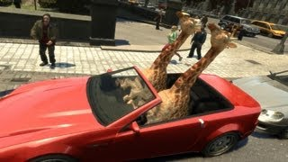 Giraffe Theft Auto or something [GTA IV - Player Mod]