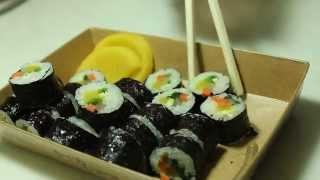 ASMR Eeating / Gim Bob(Korean food) / 꼬마김밥 먹기