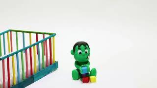 Super hero hulk dough play