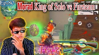 Wow!!1vs5 || Morad King solo vs fireteams,Most kill Montage Highlight|| ,Rules Of Survival,ROS ep:80