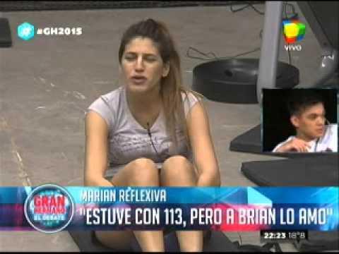"""Gran Hermano 2015"" Marian: ""Estuve con 113 pibes, pero a Brian lo amo"""