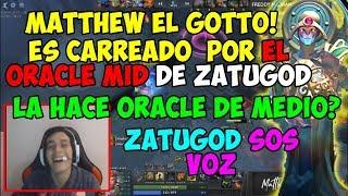 MATTHEW ES CARREADO POR EL ORACLE DE ZATUGOD   ZATUGOD SOS VOZ!