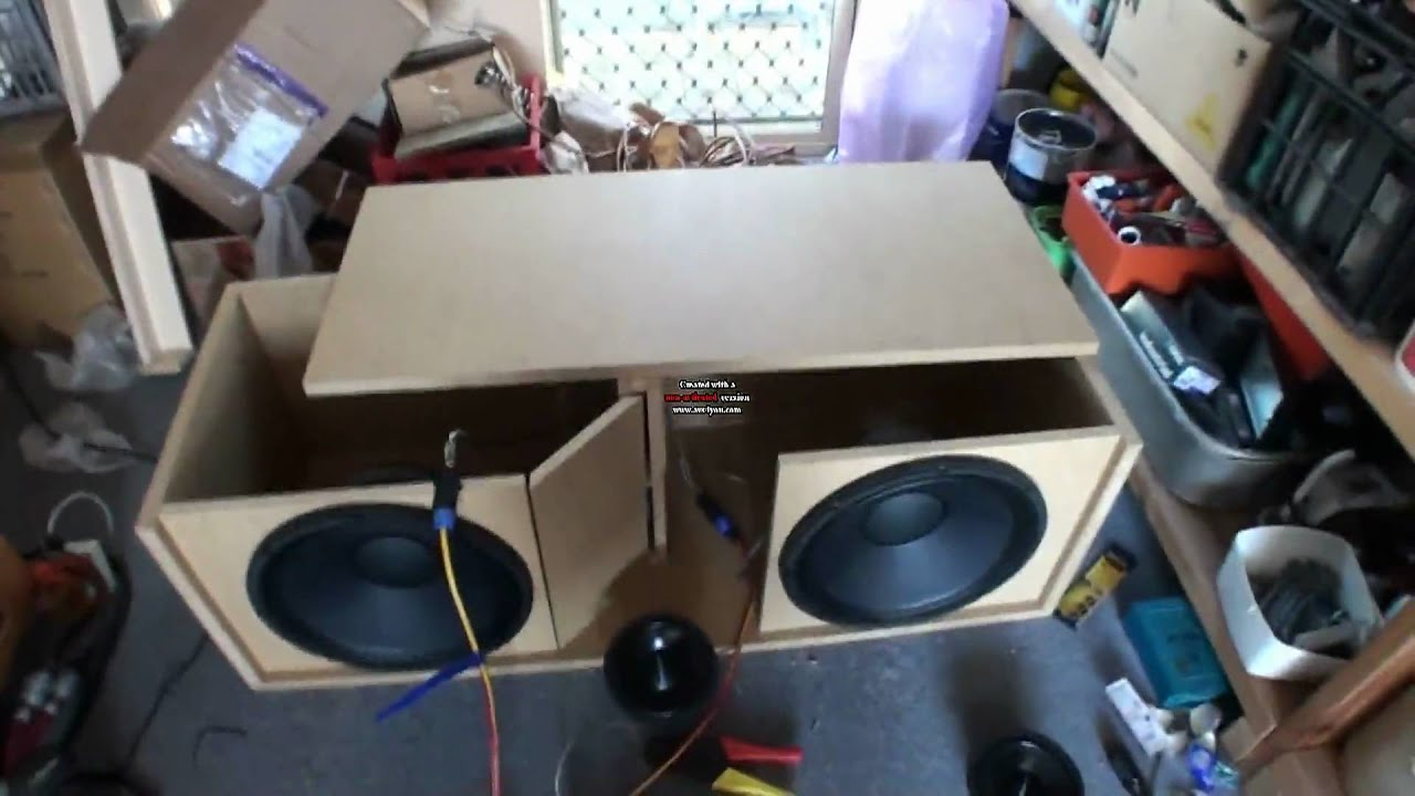 speaker line array build part 3 - YouTube