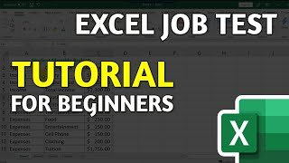 Basic Excel Test For Employment: Excel Tutorial for Beginners [2019-2020 Edition]