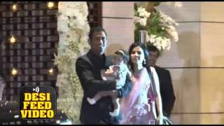 Virat Kohli, MS Dhoni at Harbhajan Singh, Rohit Sharma Wedding Party at Ambani residence