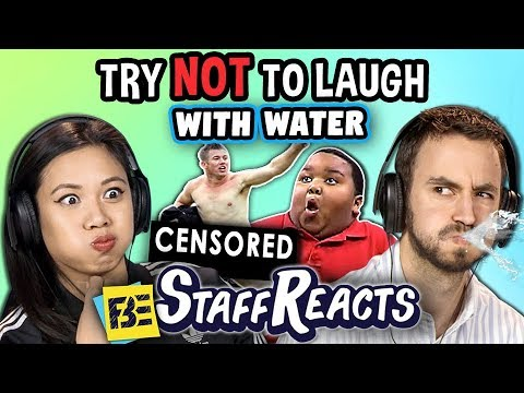 Try to Watch This Without Laughing or Grinning WITH WATER! #7 (ft. FBE Staff)