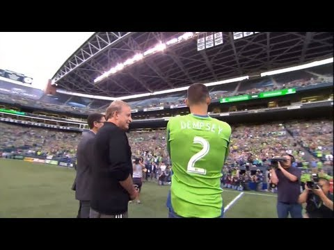 Sounders FC introduce Clint Dempsey