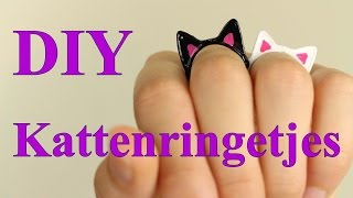 Kattenringetjes DIY / Tutorial | Cute!