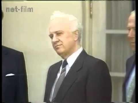 Ronald Reagan - Eduard Shevardnadze - G.Schultz. Рейган и Шеварднадзе US.1988