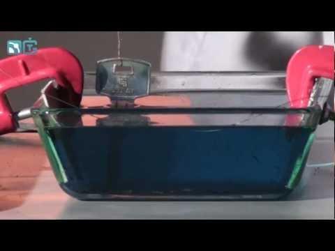 Меднение металлических предметов - физические опыты