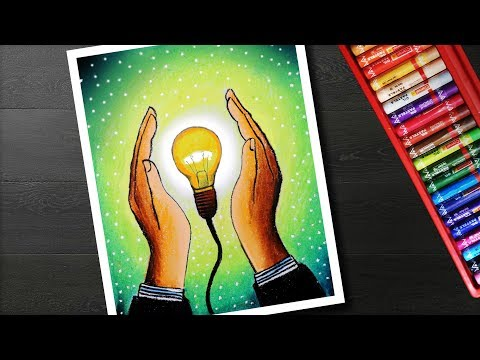 Save Energy Drawing Save Electricity Urja Bachao Drawing