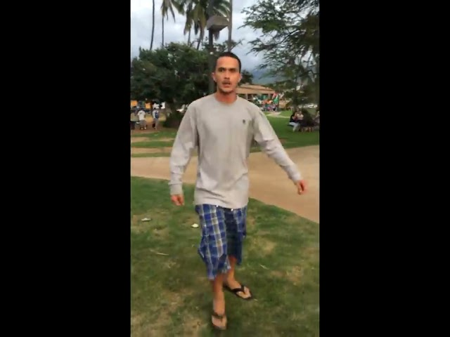 Kalama Beach, Maui, Hawaii - Man Threatens Women, Anti-Haoles