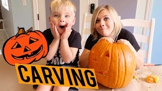 🎃 PUMPKIN CARVING WITH OLLIE!! 🎃