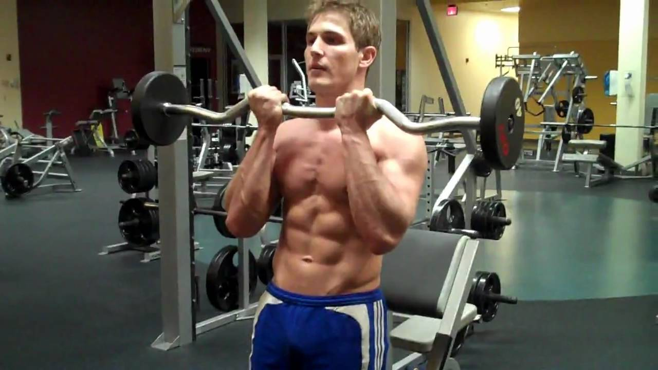 How To: Inside-Grip Bicep Curl With E-Z Bar Curl - YouTube