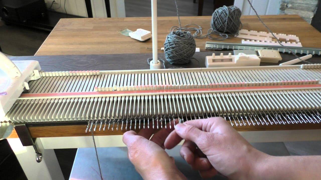 Вязание на машине silver reed 25