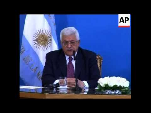 Palestine Authority President meets Argentinian president