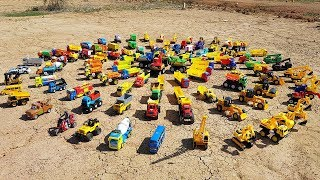 Learn Cars Names And Cars Toys Video For Kids Excavator Road Roller Dump Truck For Children