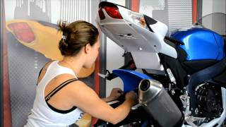 Hotbodies Racing 2011 Suzuki GSX-R 600/750 Rear Tire Hugger Installation