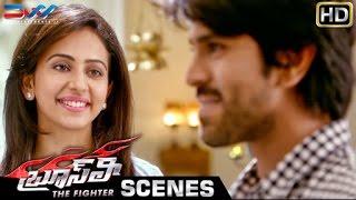 Ram Charan & Rakul Preet Proposal Scene | Bruce Lee The Fighter Telugu Movie | Smampath Raj | Ali
